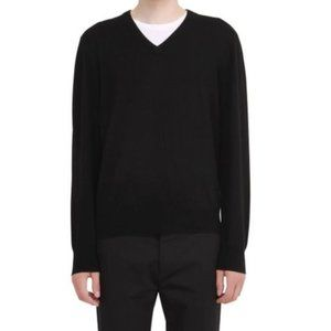 Brooks Brothers Men's Black Saxxon V-neck Sweater